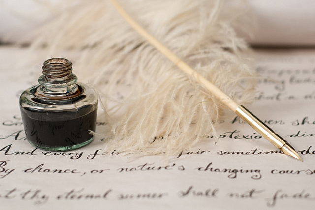 Handwriting, ink and quill pen - poetrys_passion