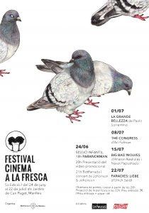 Cinema a la fresca cartell